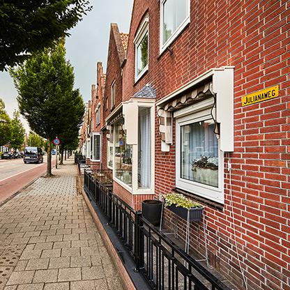 Huizen aan de Julianastraat