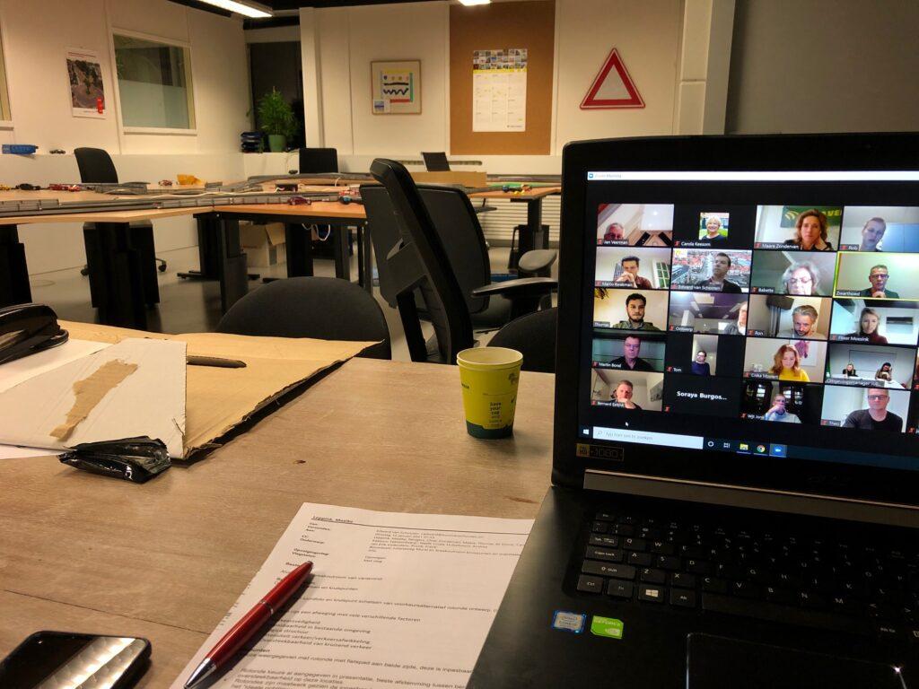 Teamsbijeenkomst met de werkgroep